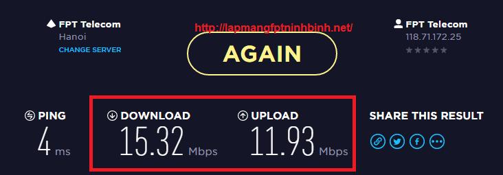 Hướng dẫn kiểm tra tốc độ mạng internet FPT, Viettel, VNPT