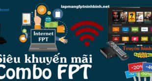 Khuyến mại lắp đặt combo internet và truyền hình FPT