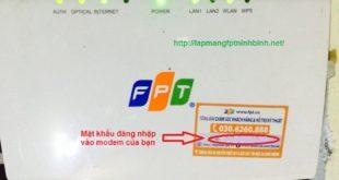 hướng dẫn đổi mật khẩu cho modem wifi fpt